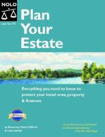 Plan Your Estate by Clifford, Denis © 2004 (Added: 5/14/18)