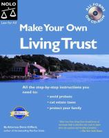 Make Your Own Living Trust by Clifford, Denis © 1993 (Added: 5/9/18)