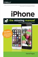 Iphone : The Missing Manual by Pogue, David © 2014 (Added: 3/25/15)