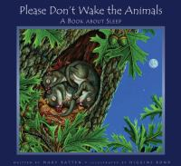 Please Don't Wake the Animals catalog link