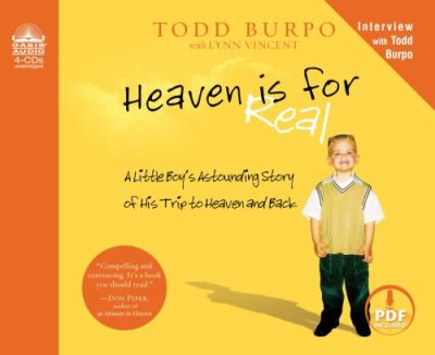 Details about Heaven is for real a little boy's astounding story of his trip to Heaven and back