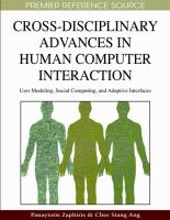 Cross-Disciplinary Advances in Human Computer Interaction catalog link