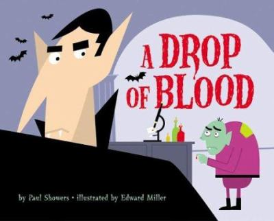 book cover for children's book called a drop of blood