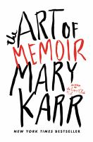 Cover for Art of Memoir