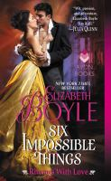 Cover art for Six Impossible Things