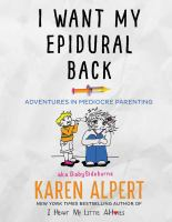 Cover art for I Want My Epidural Back