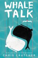 "This is an image of the cover of ""Whale Talk."" It features two whales intertwined like a yin-yang."