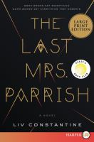 Cover art for The Last Mrs Parrish
