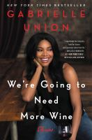 Cover art for We're Going to Need More Wine