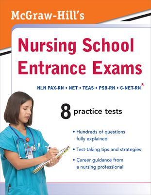 Book cover art for McGraw-Hill's Nursing School Entrance Exams