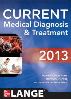 Cover of book, Current Medical Diagnosis and Treatment