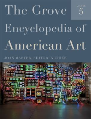Book cover for The Grove encyclopedia of American art.