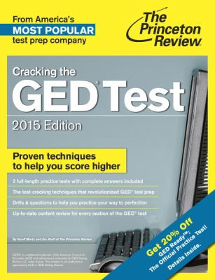 cover of The Princeton Review: Cracking the GED Test 2015