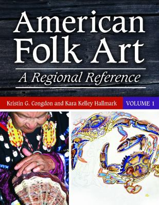 Book cover for American folk art.