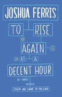 Book cover: To Rise Again at a Decent Hour