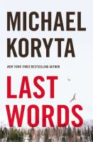 Cover art for Last Words by Michael Koryta
