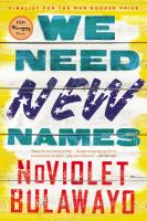 Cover art for We Need New Names