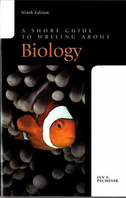 Image of book - A Short Guide to Writing about Biology.