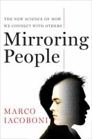 cover of Mirroring People:  The New Science of How We Connect with Others 