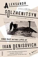 Cover art for One Day in the Life of Ivan Denisovich