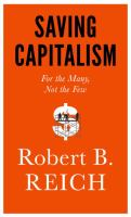 Cover of Saving Capitalism
