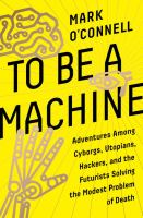 Cover art for To Be a Machine