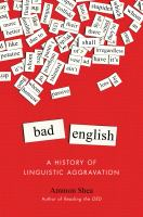 Cover art for Bad English by Ammon Shea