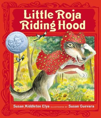 Book Cover - Title in cream lettering against red background over illustration of wolf wearing a red cloak.