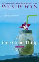 Cover art for One Good Thing