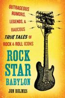 Cover art for Rock Star Babylon