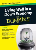Cover of Living Well in a Down Economy for Dummies