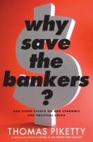 Cover art for Why Save the Bankers?