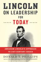 Cover art for Lincoln on Leadership for Today