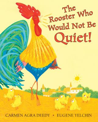 Book Cover - Title in red lettering over illustration of rooster walking among chicks.