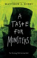 Cover Art for A Taste for Monsters