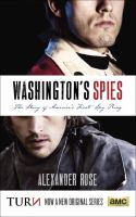 Book cover: Washington's Spies: The Story of America's First Spy Ring