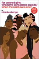 Cover art for  For Colored Girls who have Considered Suicide
