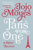 Cover art for Paris for One