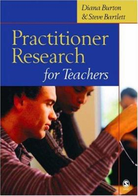 book cover for practitioner research for teachers