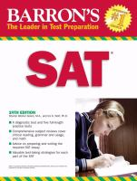 Barron's New Sat by Green, Sharon © 2008 (Added: 2/5/16)