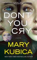 Cover art for Don't You Cry