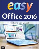 Easy Office 2016 by Rutledge, Patrice-Anne © 2016 (Added: 5/14/18)