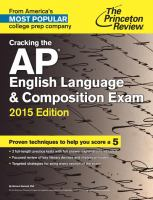 Cracking The Ap English Language & Composition Exam by Hartzell, Richard © 2014 (Added: 3/2/15)