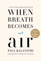 Book cover of When Breath Becomes Air