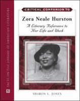 cover of Critical Companion to Zora Neale Hurston: A Literary Reference to Her Life and Work by Sharon L. Jones