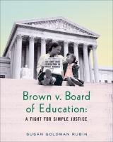 Cover art for Brown v. Board of Education