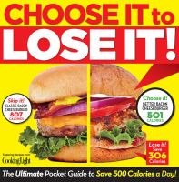 Choose It To Lose It! : The Ultimate Pocket Guide To Save 500 Calories A Day! by Brightfield, Amy © 2014 (Added: 3/18/15)