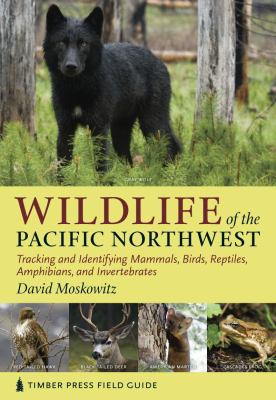 book title Wildlife of the Pacific Northwest with wolf pictured