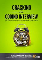 Cracking The Coding Interview : 189 Programming Questions And Solutions by McDowell, Gayle Laakmann © 2016 (Added: 7/6/17)