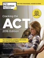 Cracking The Act by Princeton Review © 2015 (Added: 2/5/16)